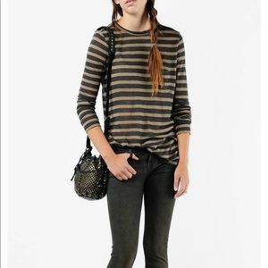T by Alexander Wang Striped Long Sleeve T